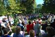 Messe dans le parc municipal